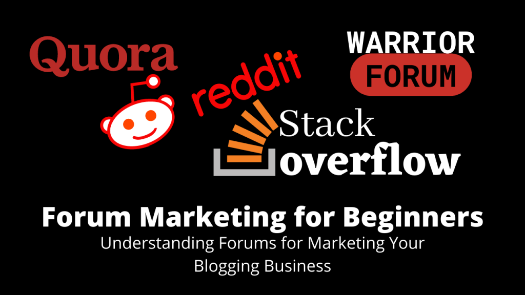 Forum Marketing for Beginners on home Income Genius