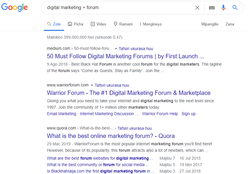 Searching Forums by Keywords: Forum marketing guide for beginners on Home Income Genius