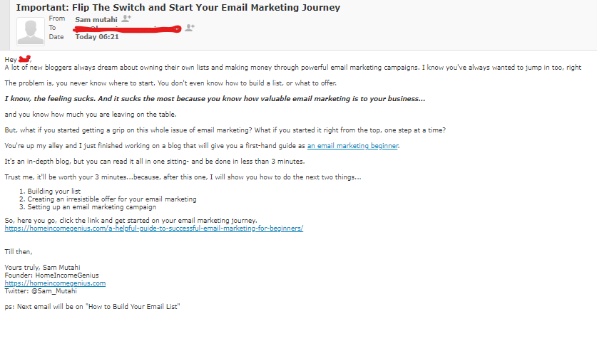 Email marketing Campaign mockup by HomeIncomeGenius