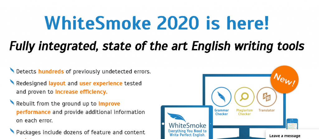 WhiteSmoke an editing and plagiarism software. One of the best plagiarism software review for bloggers and freelancers