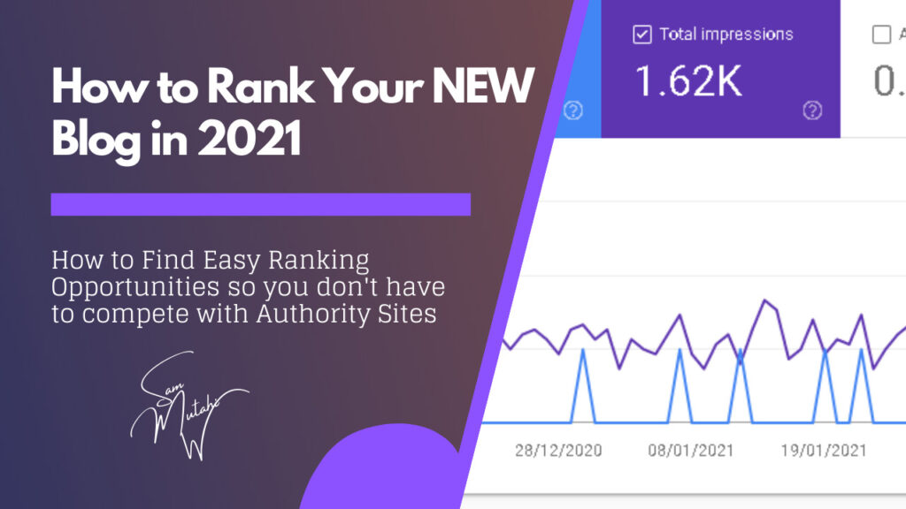 Learn how you can rank your new blog in 2021 by ranking for low competition keywords